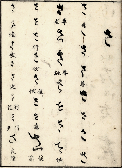 The first page of the section さ (sa) of Wakan Meien